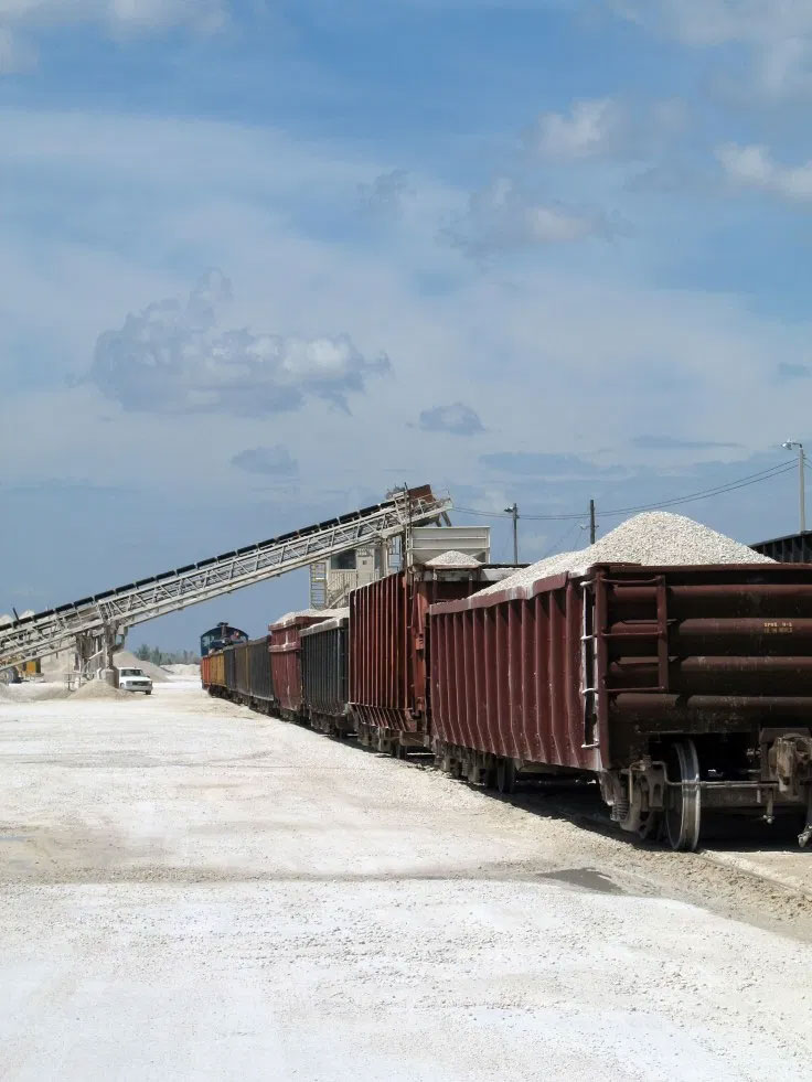 loading trains at a mine